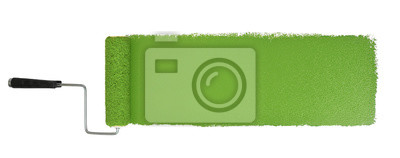 Tapeta Wałek do malowania Z Logn Green Stroke