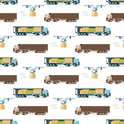 Tapeta Warehouse Fast Delivery Item Seamless Pattern