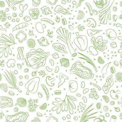 Tapeta warzywa bez szwu deseń