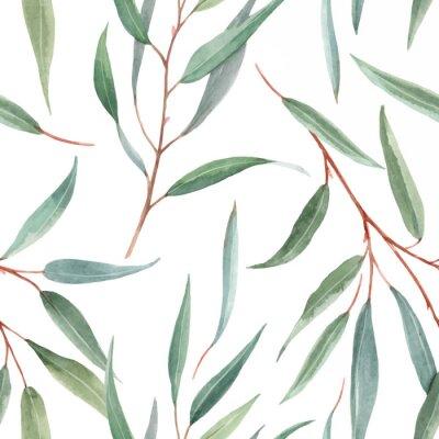 Tapeta Watercolor australian floral vector pattern
