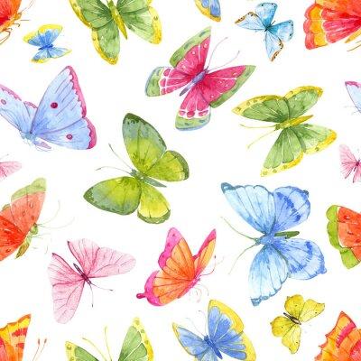 Tapeta Watercolor butterfly pattern