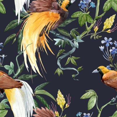 Tapeta Watercolor tropical seamless pattern