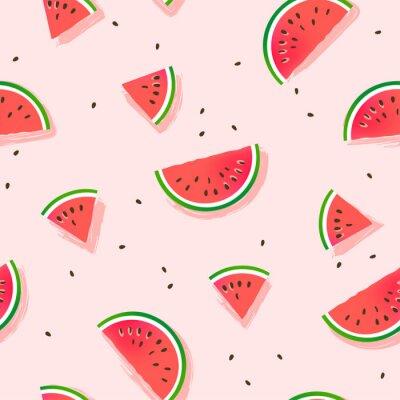 Tapeta Watermelon slices vector pattern.