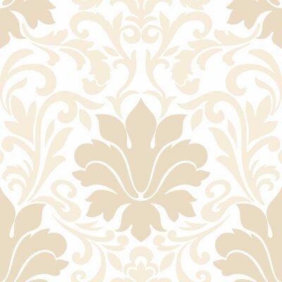 Tapeta Wektor adamaszku bezszwowych deseniu elementu. Klasyczny luksusowy staromodny adamaszku ozdoba, królewski victorian bezszwowych tekstur do tapet, tekstylia, opakowanie. Wyrafinowany kwiatowy barokowy