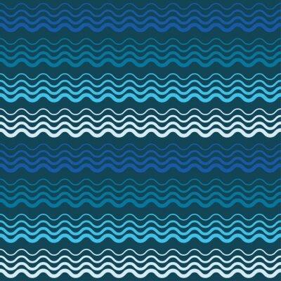 Tapeta Wektor bez szwu tła z fal. Wydrukować. Powtarzanie tła. Konstrukcja tkaniny, tapety.