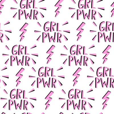 Tapeta Wektor feminizm bez szwu deseń. Ruch feministyczny