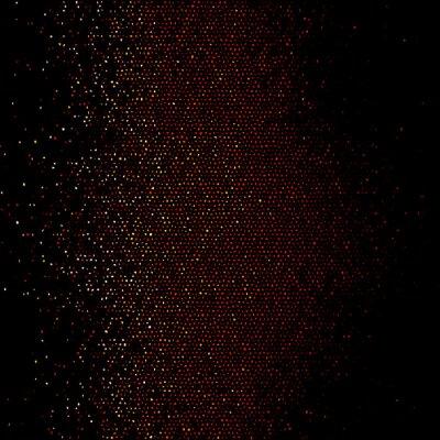 Tapeta Wektor gradientowy wzór półtonów z kropek z randomizowanymi okręgami. Wektor.