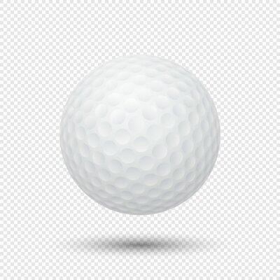 Tapeta Wektor realistyczne latania pi? Ka golfowa bliska wyizolowanych na przejrzystym tle. Szablon projektu w formacie EPS10.