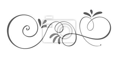 Tapeta Wektor ręcznie rysowane elementy projektu kaligraficzna wiosna rozkwitać. Kwiatowy wystrój w stylu lekkim na www, wesele i druk. Samodzielnie na białym tle Ilustracja kaligrafii i liternictwa