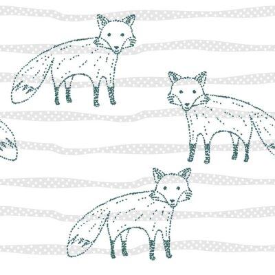 Tapeta Wektor rysowane bez szwu geometryczny wzór z lisem