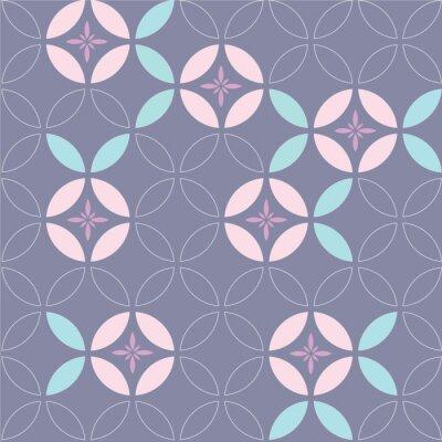 Tapeta Wektor wzór japoński kwiat. Geometryczny szablonu tło. Wektor kwiat ranna sława.