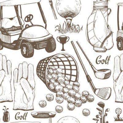 Tapeta Wektor zestaw ręcznie rysowane sprzętu sportowego. Ilustracja w stylu szkic na białym tle.