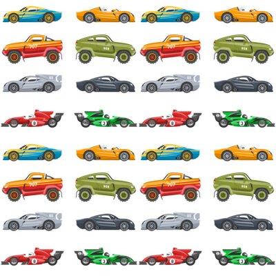 Tapeta Wektorowego bezszwowego deseniowego tła luksusowy samochodowy transport wyszczególniający auto biznesu transportu projekt.