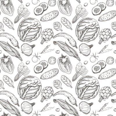 Tapeta Wektorowy bezszwowy wzór z warzywami