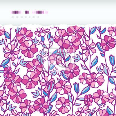 Wibrujący pole kwiaty bez szwu wzór poziomy rozdarty