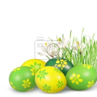 Wielkanocne dekoracje z jaj wielkanocnych.