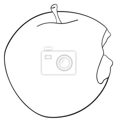 Tapeta Wspaniały ogród - Bitten okrągłe jabłko