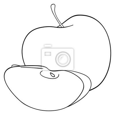 Tapeta Wspaniały ogród - jabłko z plasterka