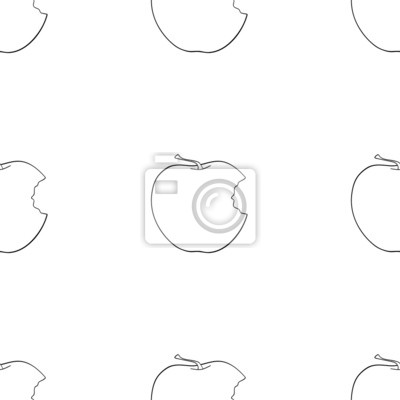 Wspaniały ogród - Jednolite wzór ugryzł jabłko