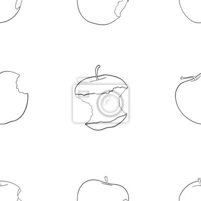 Tapeta Wspaniały ogród - Jednolite wzór wniosków jabłek.