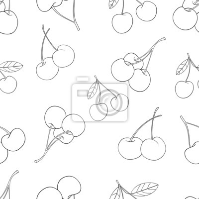Wspaniały ogród - Jednolite wzór z dużą ilością wiśni 2