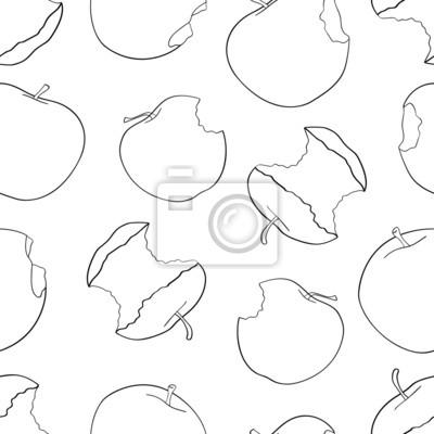 Tapeta Wspaniały ogród - Jednolite wzór z wielu ugryzł jabłko