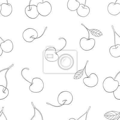 Wspaniały ogród - Jednolite wzór z wiśniami
