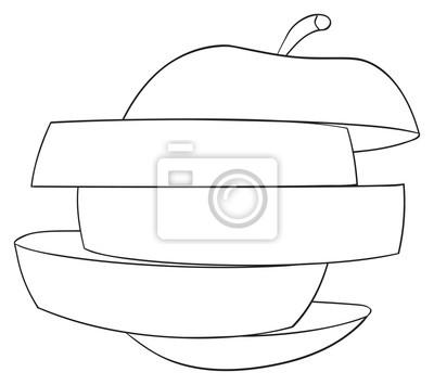 Tapeta Wspaniały ogród - Plastry jabłko 1