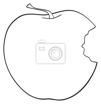 Tapeta Wspaniały ogród - Widok z boku ugryzł jabłko