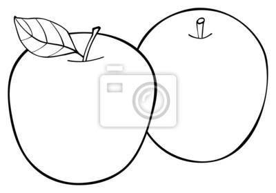 Wspaniały ogród - Zestaw dwóch jabłek z liściem