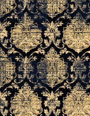 Tapeta Wysoce szczegółowy abstrakcjonistyczny tekstury lub grunge adamaszka tło. Dla tekstury i rocznika papieru lub ramki, nowoczesny wzór adamaszku na dywan, dywan, szalik, schowek, wzór szal