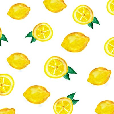 Tapeta wzór cytryny