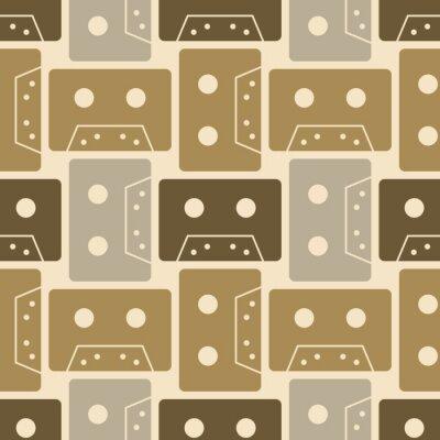 Tapeta Wzór kasety. Autentyczny design dla mediów cyfrowych i drukowanych.