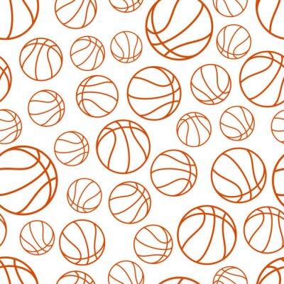 Tapeta Wzór koszykówki