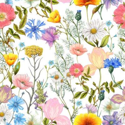 Tapeta Wzór letnich kwiatów