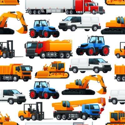 Tapeta Wzór maszyny pojazdów przemysłowych