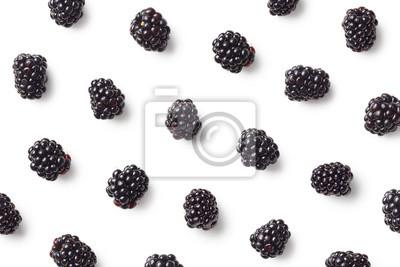 Tapeta Wzór owoców jeżyn