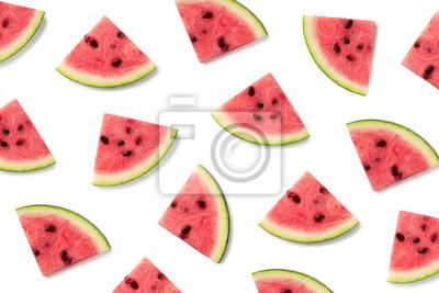Wzór owoców plastry arbuza