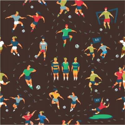 Tapeta wzór piłki nożnej
