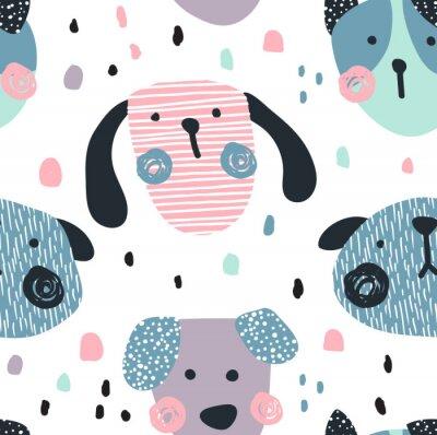 Tapeta wzór psów