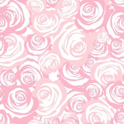 Tapeta Wzór róże. Różowy wektorowy tło