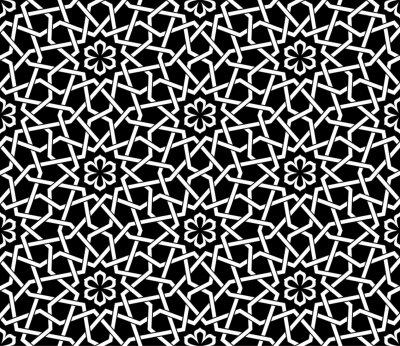 Tapeta Wzór z przecinającymi się paskami, linie poly, wielokąty. Streszczenie ornament w stylu arabskim. Arabeska.