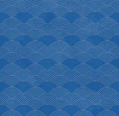 Tapeta 和風 の レ ト ロ な 波 模 様