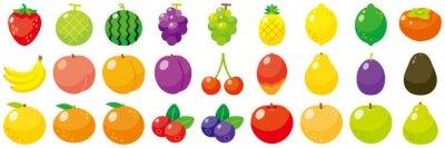 Tapeta フルーツアイコンセット-Fruit vector icon