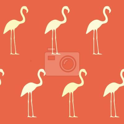 Tapeta Zachód Słońca Flamingo