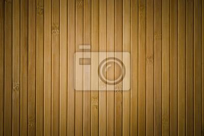 Tapeta zamknąć się z bambusa tle drewna