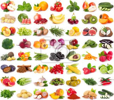 Tapeta Zbiór świeżych owoców i warzyw