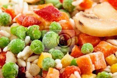 Tapeta Zbliżenie mrożonych warzyw