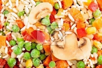 Zbliżenie z mrożonych warzyw