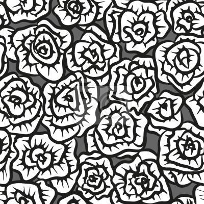 Tapeta Zdobione Różami